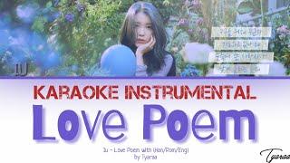 [Karaoke Instrumental] IU   LOVE POEM WITH LYRICS