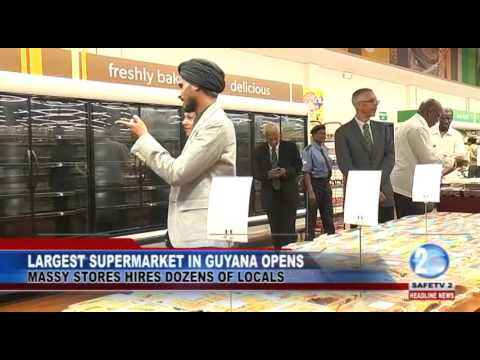 LARGEST SUPERMARKET IN GUYANA OPENS