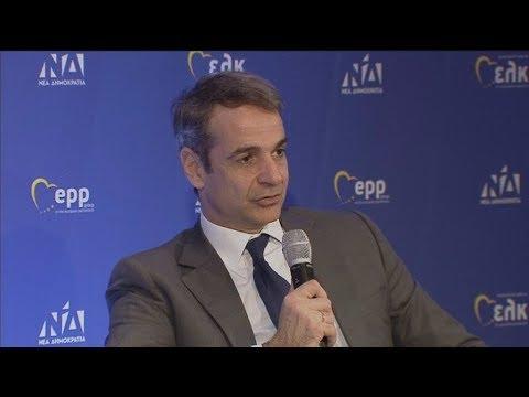 Την ανάγκη ενότητας στην Ευρώπη για την επίλυση των προβλημάτων, τόνισαν Μητσοτάκης, Ταγιάνι, Βέμπερ