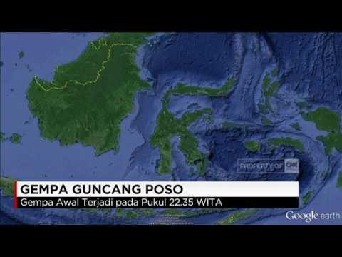 Gempa Guncang Poso, Senin Malam 29/05/2017