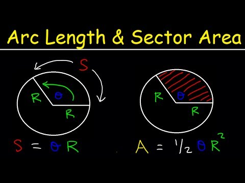 Arc Length of a Circle Formula - Sector Area, Examples, Radians, In Terms of Pi, Trigonometry