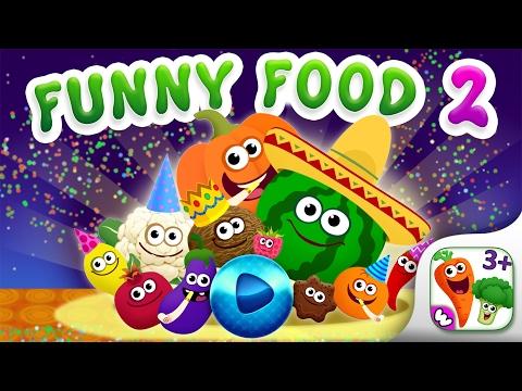 FUNNY FOOD 2! Kindergarten Learning Games for Kids video