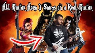 ALL GUITAR HERO 3 SONGS ON A REAL GUITAR