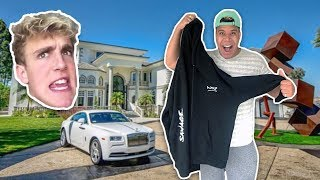 HAND DELIVERING MY MERCH TO JAKE PAUL