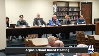 Argos School Board Meeting 3-18-19