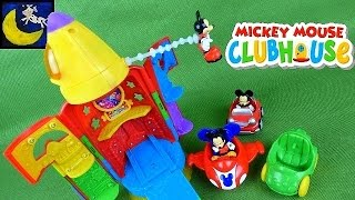 Mickey Mouse Clubhouse Blast Off Rocket Ship Playset Space Ship and Car Toys!