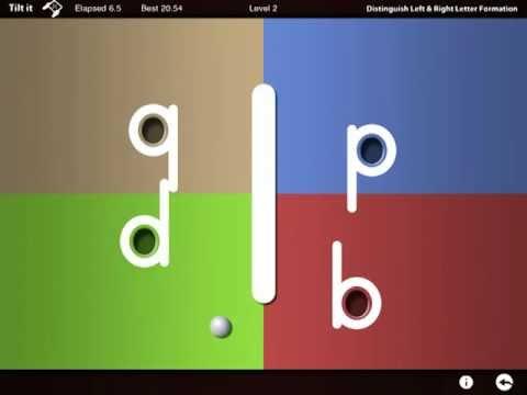 Screenshot of video: Letter reflex app