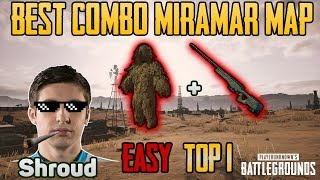 Ghillie Suit vs AWM in MIRAMAR MAP - Shroud win solo game FPP - PUBG HIGHLIGHTS TOP 1 #28