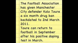 Kolo Toure given drug ban
