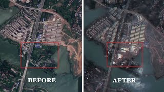 Satellite images show Wuhan before and after the coronavirus outbreak