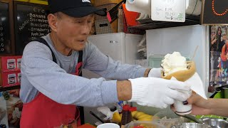 Korea Famous Grandpa crepes (Strawberry Banana Blueberry Crepe) – Korean street food