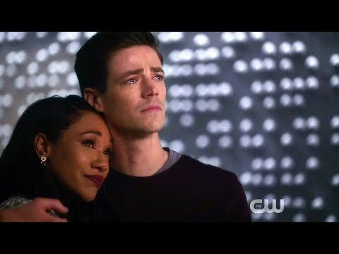 The Flash 5x22 Nora's goodbye message in the time vault
