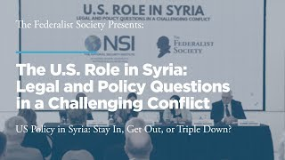 Click to play: Panel 2: US Policy in Syria: Stay In, Get Out, or Triple Down?