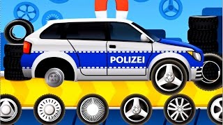 Dream Cars Factory Police Car - Best iOS Game App for Kids