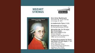 Divertimento in F Major for String Ensemble, K. 138/125c: 3. Presto