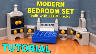 Modern LEGO Bedroom Set How To Tutorial