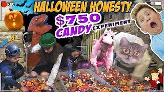 HALLOWEEN TRICK OR TREATER EXPERIMENT  HONESTY TEST w  $750 TREATS  FV Greedy Vlog