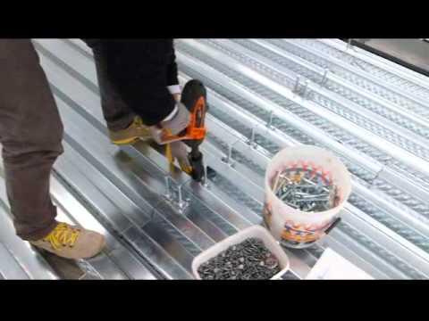 Fissaggio connettori CTF su solaio in acciaio e lamiera grecata