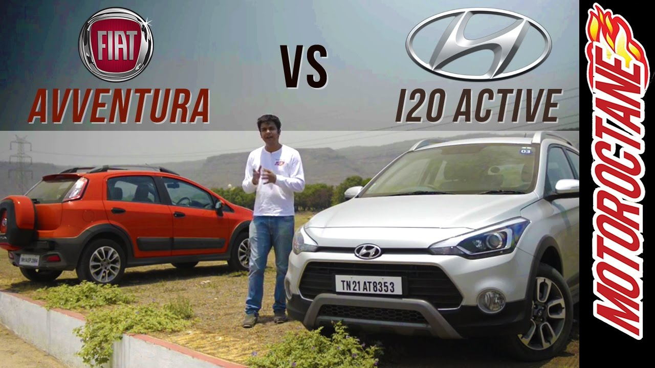 Motoroctane Youtube Video - Fiat Avventura v/s Hyundai i20 Active | Latest Car Reviews | MotorOctane
