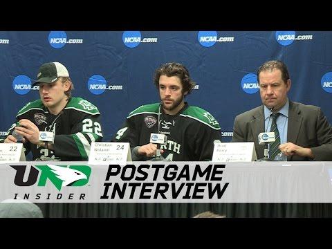 UND Hockey - Postgame Presser - NCAA West Regional Semifinal