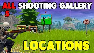 """""""Get a Score of 3 or more at Different Shooting Galleries"""" ALL LOCATIONS! Fortnite"""