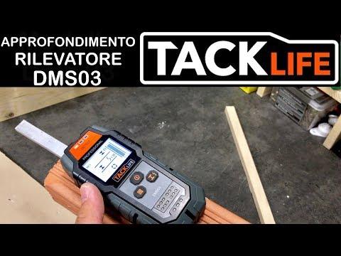 Test approfondito TACKLIFE DMS03. Rilevatore Tensione elettrica, legno e metalli.