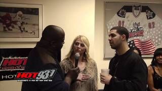 Hot 93.7's Hot Morning Crew Interviews Drake Backstage At Jingle Jam 2011
