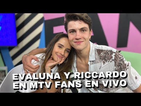 Evaluna Montaner y Riccardo Frascari en MTV Fans En Vivo