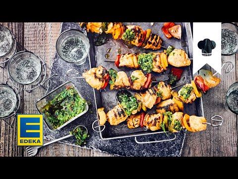 Schaschlik selber machen I Gegrillte Fleischspieße mit Paprika und Zwiebeln | EDEKA