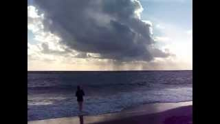 preview picture of video 'Huge Raincloud over the beach at Paphos, Cyprus, February 2013'