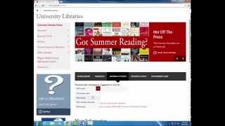 Finding Journals and E-books at the University Libraries