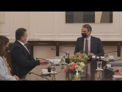 Συνάντηση του Πρωθυπουργού Κ. Μητσοτάκη με τον Αντιπρόεδρο της Ευρωπαϊκής Επιτροπής, Maroš Šefčovič
