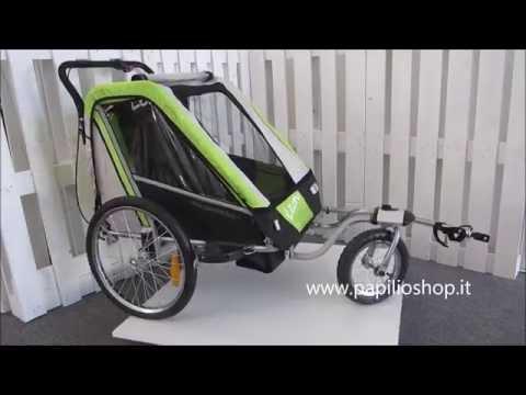 Rimorchio da bicicletta per il trasporto dei bimbi mod. LEON