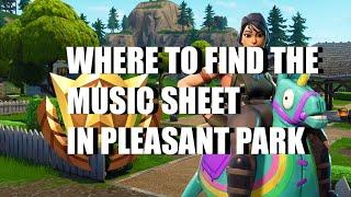Fortnite Pleasant Park Sheet Music Location