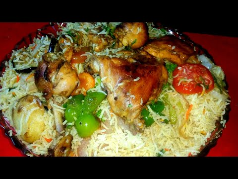 Chicken Maqlooba Traditional Arabian Recipe