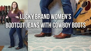 Lucky Brand Womens Bootcut Jeans With Cowboy Boots