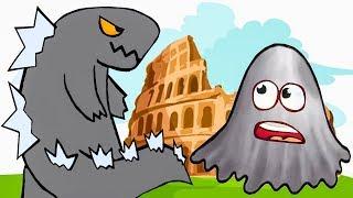 ЛИЗУН ГЛАЗАСТИК съел Древний Рим и Японию. ИГРА Tasty Planet 2 #3 на Игрули TV