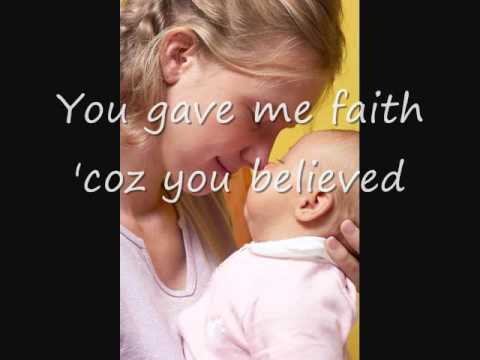 Because You Loved Me, Celine Dion (with Lyrics) - Dedication To Mothers Mp3