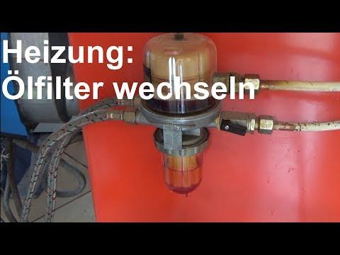Heizung Ölfilter wechseln Filter von Heizung ersetzen