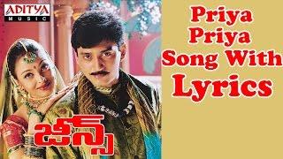 Jeans Full Songs With Lyrics - Priya Priya Song   - YouTube