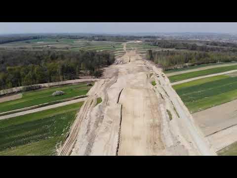 Planowana droga S19 odc. 3 obwodnica m. Kraśnik - widok lotniczy - kwiecień 2020 r.