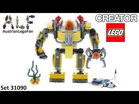Vidéo LEGO Creator 31090 : Le robot sous-marin