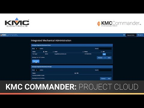 KMC Commander: Getting Started & Project Cloud