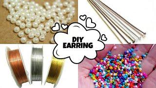 How To Make Wire, Head Pin & Seed Bead Earrings   Beads Tutorial  DIY