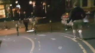 video:  Unseen footage of London Bridge attack shows terrorists confronting unarmed officers just seconds before they are shot dead