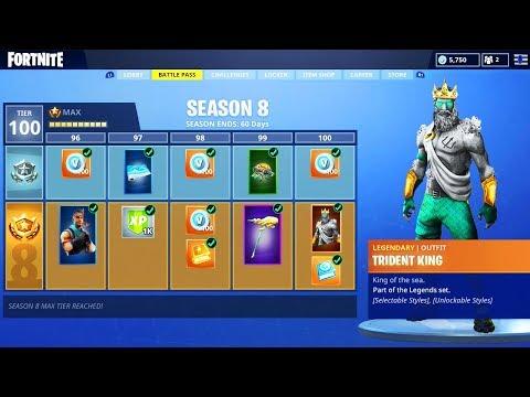 the new season 8 battle pass in fortnite - fortnite season 8 battle pass rewards leaked