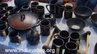Pottery artifacts from Manipur in Dilli Haat