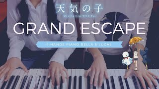 🎵Weathering With You OST (날씨의 아이 OST) - Grand Escape | 4hands piano