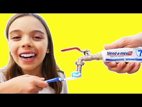 To brush teeth - غسل الأسنان Sa Spalam Dintii | Jasmina Show