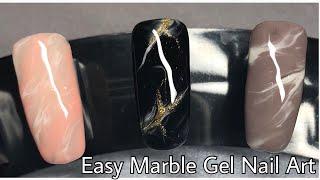 EASY MARBLE GEL NAIL ART | Rose Quartz | Mineral Stone | No Sharpies!